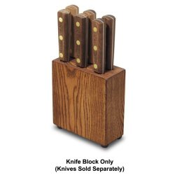 Dexter Russell Traditional 6-Slot Wood Steak Knife Block