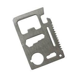 11 Function Credit Card Size Survival Pocket Tool Multi-Function Outdoors Camping Survival Knife