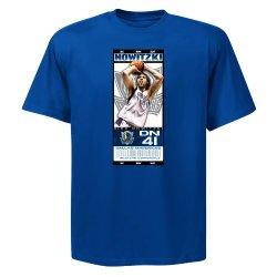 Nba Mens Dallas Mavericks Dirk Nowitzki Hot Ticket Deep Royal Short Sleeve Basic Tee By Majestic (Deep Royal, Medium)