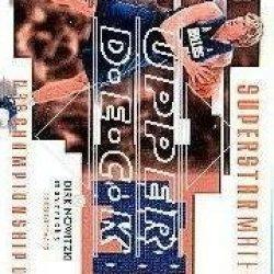 2002-03 Ud Championship Drive Superstar Mat. Jersey #Dnm Dirk Nowitzki Jsy /100