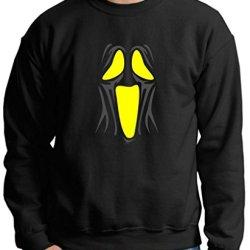 Spooky Ghost Face Premium Crewneck Sweatshirt 2Xl Black