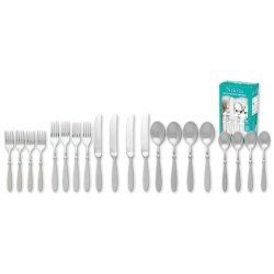 A Set Of Nikita Bistro 20 Pc Forged Stainless Steel Flatware Set