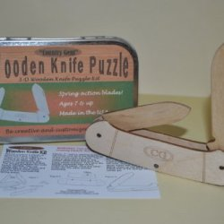 Wooden 3-D Knife Puzzle Toy