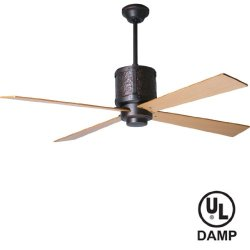 """Period Arts Bdg-Rb, Bodega Rubbed Bronze 52"""" Outdoor Ceiling Fan With Per-52-Mp Blades"""