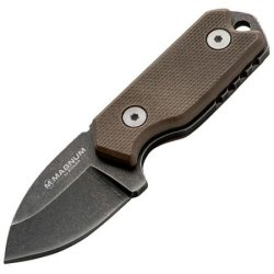 Boker Usa Magnum Lil Friend Micro Fixed Blade Knife,1.38In 440 Stainless Steel Blade,G10 02Sc743