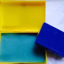 Best Match 2 Sizes Of Plastic Storage Boxes Yellow(Big)-Blue(Small), Empty Box For Diy Storage