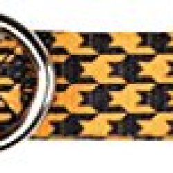 East Side Collection Houndstooth Bat Collar For Pets, 10 To 16-Inch, Orange