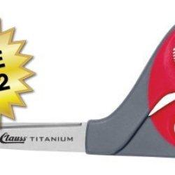 "Clauss Titanium Bonded Bent Handle Shears, 9"", Case Of 72"
