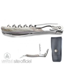 Laguiole Corkscrew, Sommelier Signed By Andreas Larsson, Best Sommelier 2001/2002/2003, Nordic Countries 2002, Europe 2004, And World 2007. Authentic Genuine Chateau Laguiole. Hand Made In France. Delivered With Personalized Leather Case