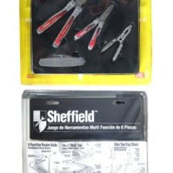 Sheffield 6 Piece Multi Function Tool & Pocket Knife Kit 12503