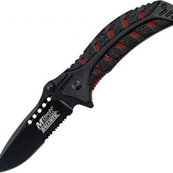Mtech Usa Mt-A827Rd Spring Assisted Knife, 4. 5-Inch Closed