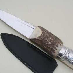 New Bambi Silver And Stag Handle Sheffield Sgian Dubh