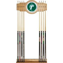 Tulane University Wood & Mirror Wall Cue Rack Tulane University Wood & Mirror Wall Cue Rack