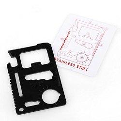 Multipurpose Pocket Survival Tool Mini Multi-Function Tool Knife Card Black New