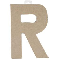 Paper Mache Letter - R - 8 X 5.5 X 1 Inches