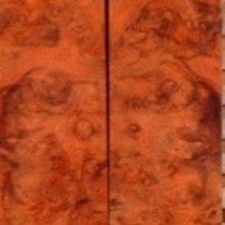 """Amboyna Burl Eye (2 Pc) Mini Knife Scales 3/16""""X1""""X4"""" 802"""