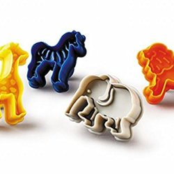 Animal Biscuit Cutters Safari Set Of 4 - Giraffe Zebra Elephant Lion