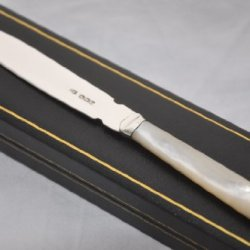 Perfect Mother Of Pearl & Sterling Silver Bladed Letter Opener Sheffield 1948