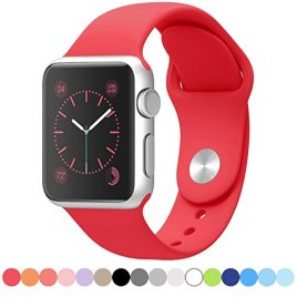 Apple-Watch-Band-LNKOO-Soft-Silicone-Sport-Style-Replacement-iWatch-Strap-bands-for-Apple-Wrist-Watch-3842mm-Models-Formal-Colors