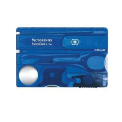 Victorinox Swiss Card Blue Transparent