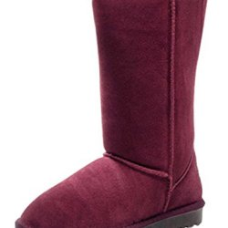 Milanao Women Classic Casual Thicken Fluff Knee High Snow Boots (8.5 B(M) Us, Purple)