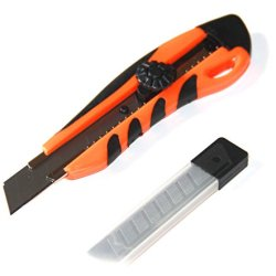 Soft-Grip Snap-Off Utility Knife With 6 Blades - Lifetime Warranty