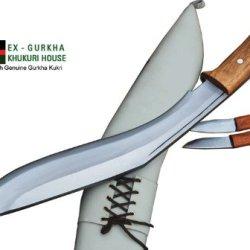 "15"" Gurkha Defender Heavy Duty Jungle Kukri Knife, Authentic Handmade Khukuri Or Khukris By Ex Gurkha Khukuri House In Nepal"