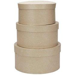 Darice 8/9/10-Inch Paper Mache Round Box