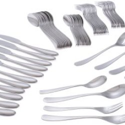 Yamazaki Appel 65-Piece Flatware Set, Service For 12