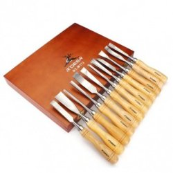 12Pcs Carving Chisels Kit Woodworking Knifes Wood Carving Knifes Set
