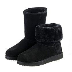 Kameiqi Women Classic Ankle Short Fluff Variable Wear Warm Snow Boots (6 B(M)Us,Black)
