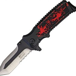 Mtech Usa Mt-A821Rd Spring Assisted Knife, 4.75-Inch Closed