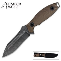 Timber Wolf Atomic Steel Full Tang Stonewash Modified Drop Point Dagger