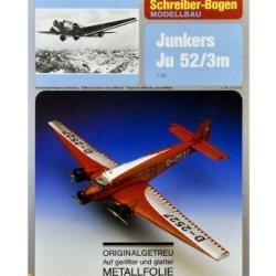 """Schreiber - Bogen Junkers Ju 52/3M """"Metallfolie"""" Card Model"""