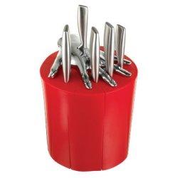 7 Piece Knife Set Color: Red