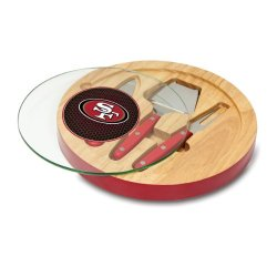 Nfl San Francisco 49Ers Red Ventana Cheese Set