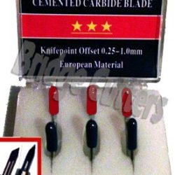 Roland Type Cemented Carbide Blade Set Of 6. 3 Each 45/60 Degree