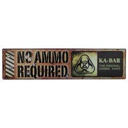 "Ka-Bar 1-5701Sign-1 Original Zombie ""No Ammo Required"" Sign Knife"