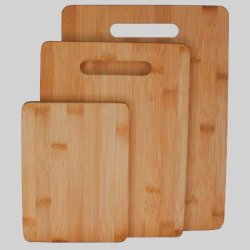 "Bamboo Cutting Board 3-Piece Set, Strong 3/4"" Thick 3-Ply Construction, Easy On Your Cutlery And Cookware , Makes Nice Cheeseboard, Breadboard, Serving Tray Set, Trivet Or Chopping Boards, Separate Boards For Meat And Vegetables, Eco-Friendly, Naturally A"