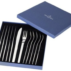 Villeroy & Boch Flatware Gourmet Steak Knife & Fork Set Of 6 Each