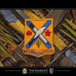 """2Nd Infantry Regiment """"The Ramrods"""" Giclee Print 8X10 Framed"""