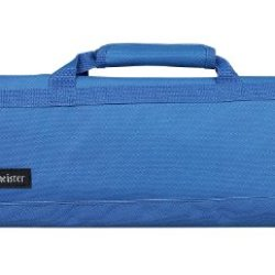 Messermeister 8-Pocket Padded Knife Roll, Pacific Blue