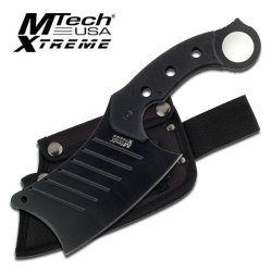 "Mx-8097 Black Full Tang 3.5Mm Hxpebfkdg Thick 8X6Kofku Cleaver Mtech Knife - Black G10 Hndl Ayeuiu56 Hlbv23Rt Mtech Xtreme Cleaverfixed Blade Knife12"" Overall Length6.25"" Gu8Wdh Black K6Vlizrr Stainless Steel Blade3.5Mm Thick Full Tang Blade5.5"" Black G10"