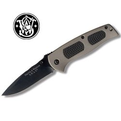 Smith & Wesson Sw4000Gb Swat Medium Liner Lock Knife, Black/Gold