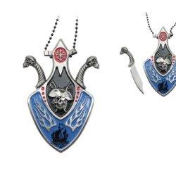Pirate Design Necklace Knife