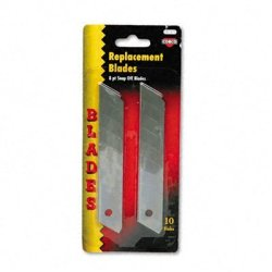 Cosco Quickpoint Snap-Off Straight Handle Retractable Knife Replacement Blades, 10 Per Pack (091473)