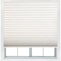 Easy Lift, 36-Inch By 64-Inch, Trim-At-Home (Fits Windows 21-Inches To 36-Inches Wide) Cordless Pleated Shade, Light Filtering, White