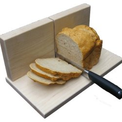 Maple Bread Slicer Classic - Solid Hard Maple, Heavy Duty Bread Slicer
