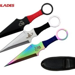 "9"" 3 Pieces Set New Design Naruto Kunai Throwing Knife With Sheath"