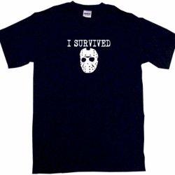 I Survived Jason Hockey Mask Logo Men'S Tee Shirt 2Xl-Black